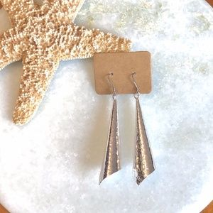 {BOUTIQUE} Sterling Silver Hammered Cone Earrings